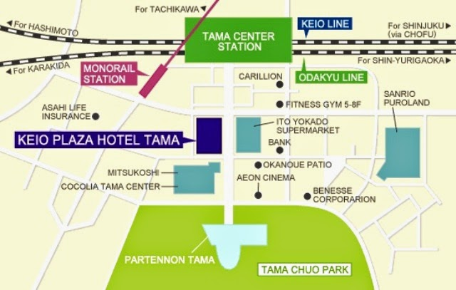 keio plaza hotel tama location map japan