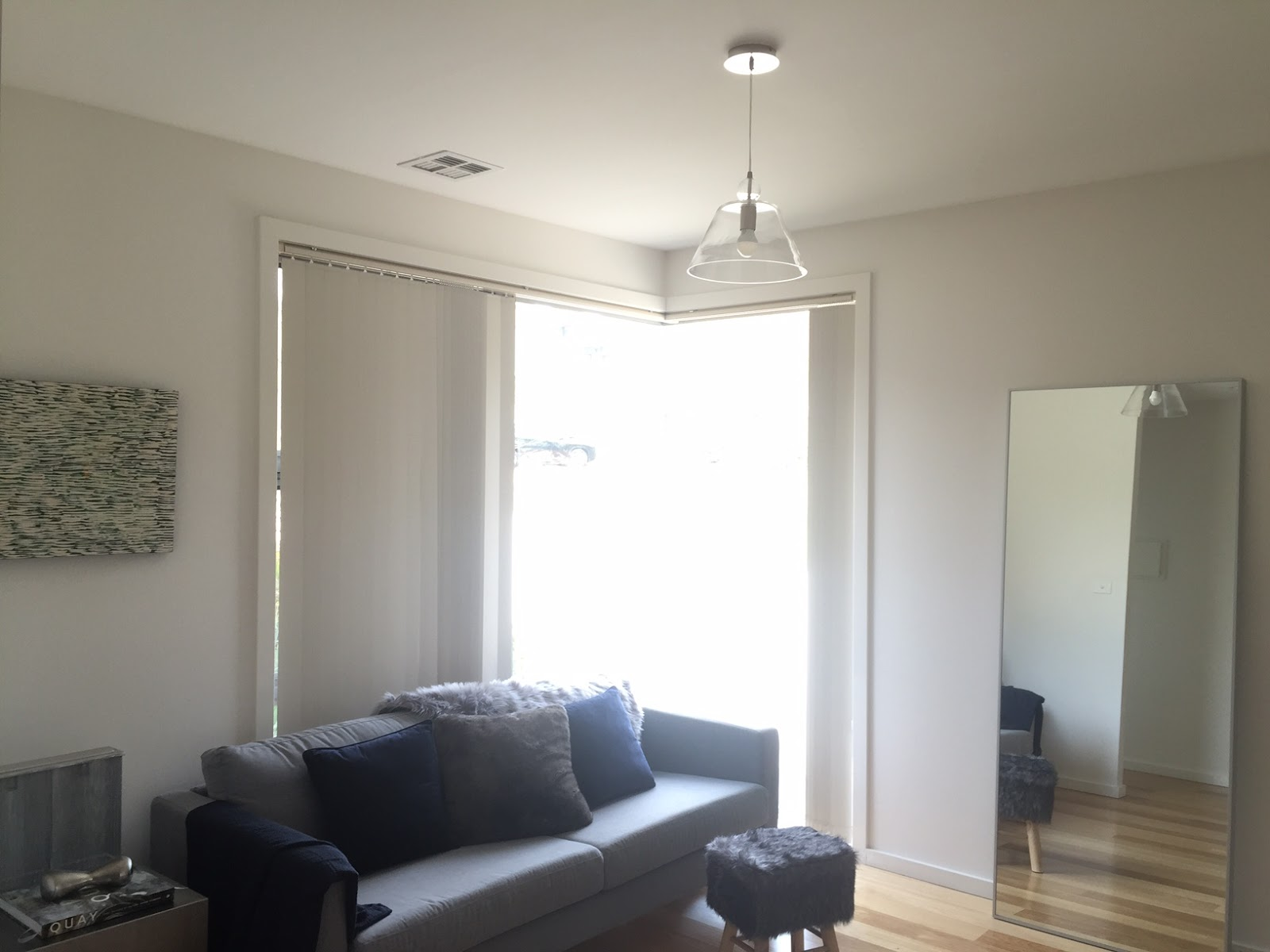 i think replacing the clear glass pendant light inoffensive but underwhelming would have a significant impact i went to beacon lighting in fyshwick with - Glass Front Living Room 2016