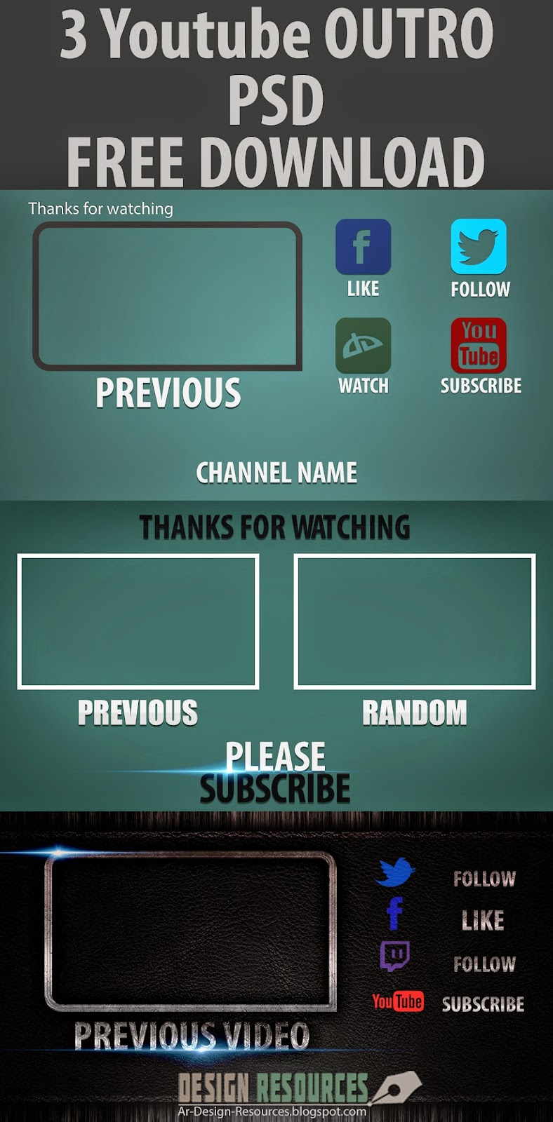 3 free outro templates psd dr design resources for Outro template download