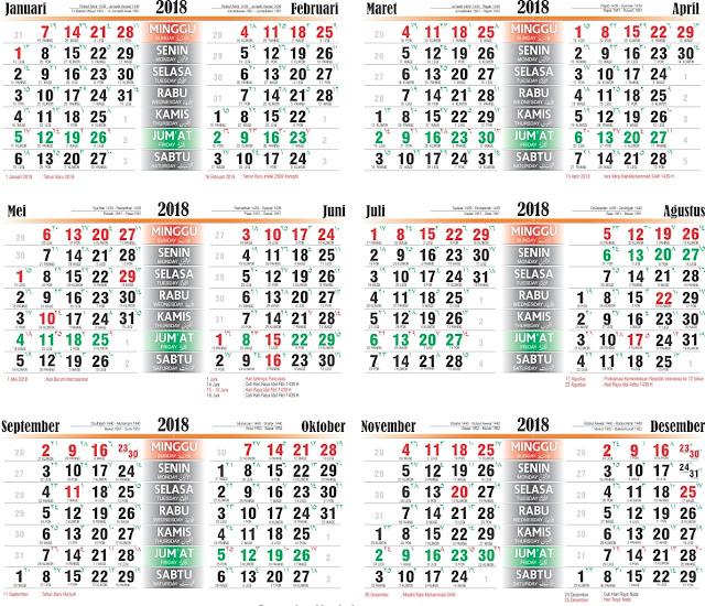 kalender terbaru masehi hijriyah