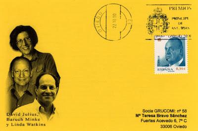 Tarjeta del rodillo en Oviedo de los Premios Príncipe de Asturias 2010