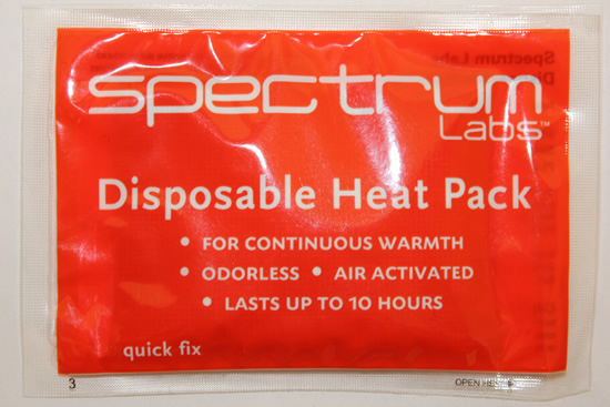 heat pack from Spectrum Labs