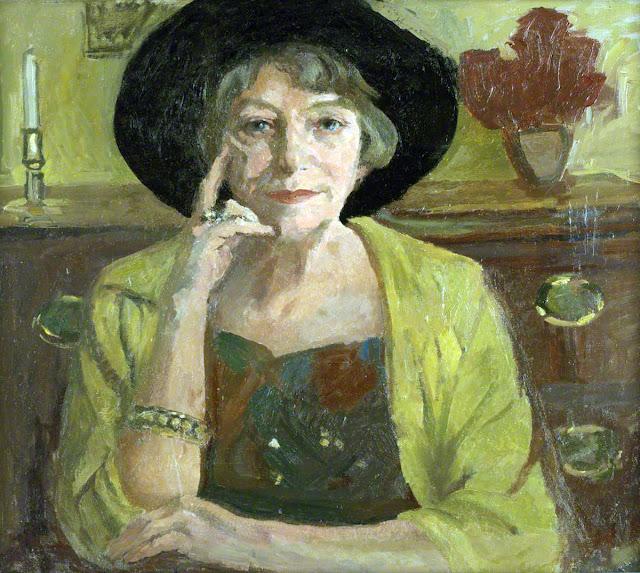 Gladys Vasey, Self Portrait, Portraits of Painters, Fine arts, Portraits of painters blog, Paintings of Gladys Vasey, Painter Gladys Vasey