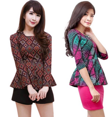 baju batik modern dres pendek