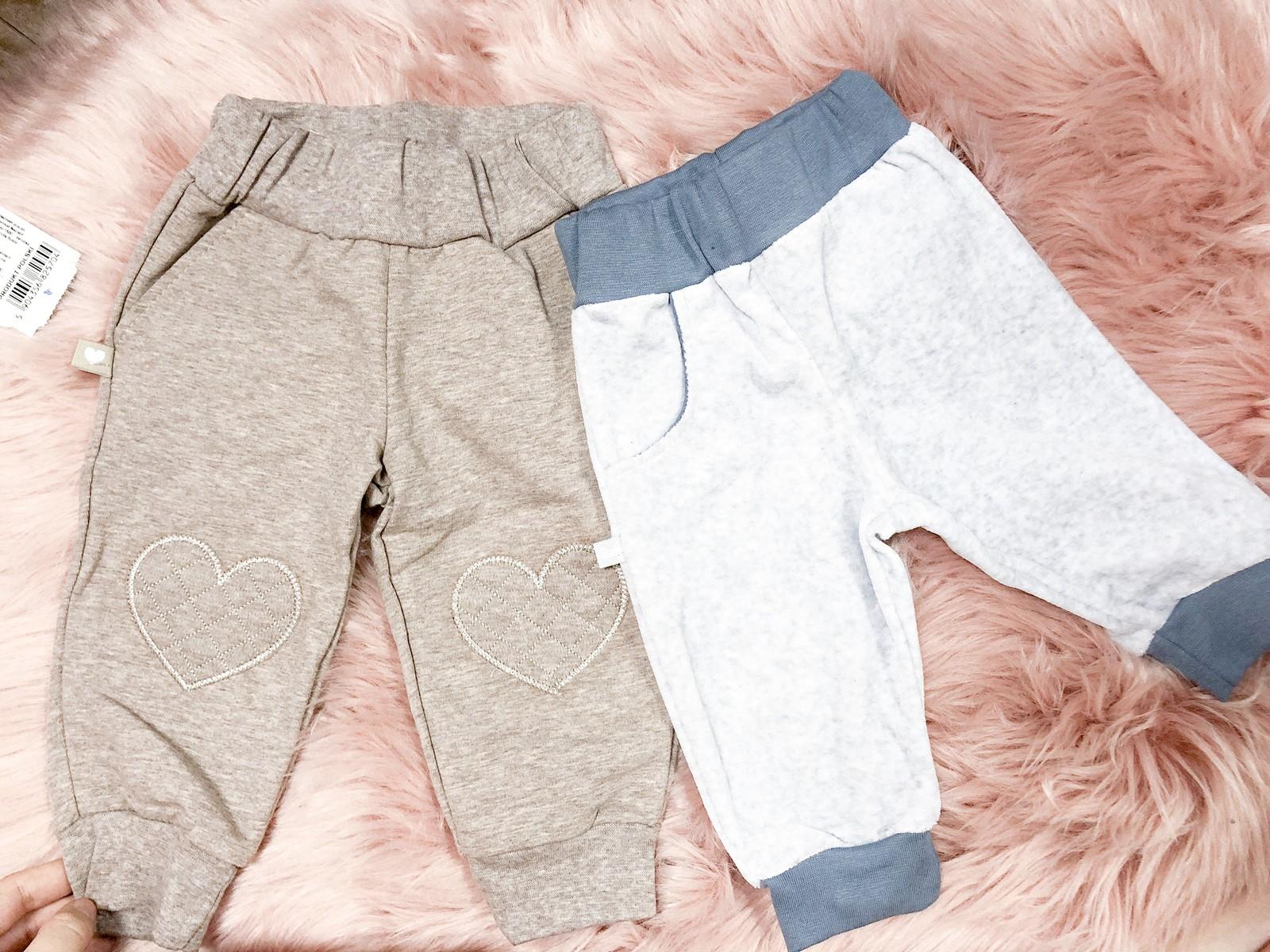 spodnie dla noworodka