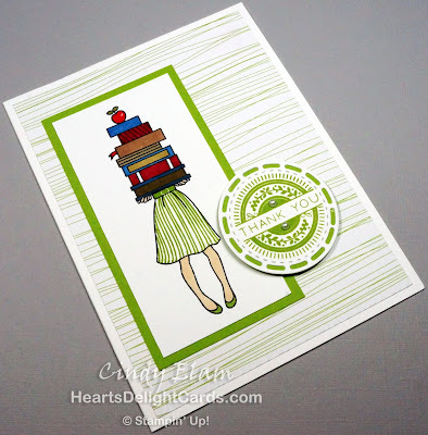 Heart's Delight Cards, Hand Delivered, Stitched All Around, Thank You, Teacher Appreciation, Stampin' Up!