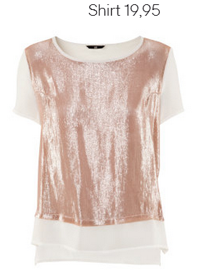 Rose And White Glitter Shirt H&M Fall 2012 Collection