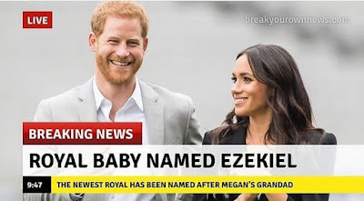 The Duke and Duchess of Sussex Names Their New Born Baby