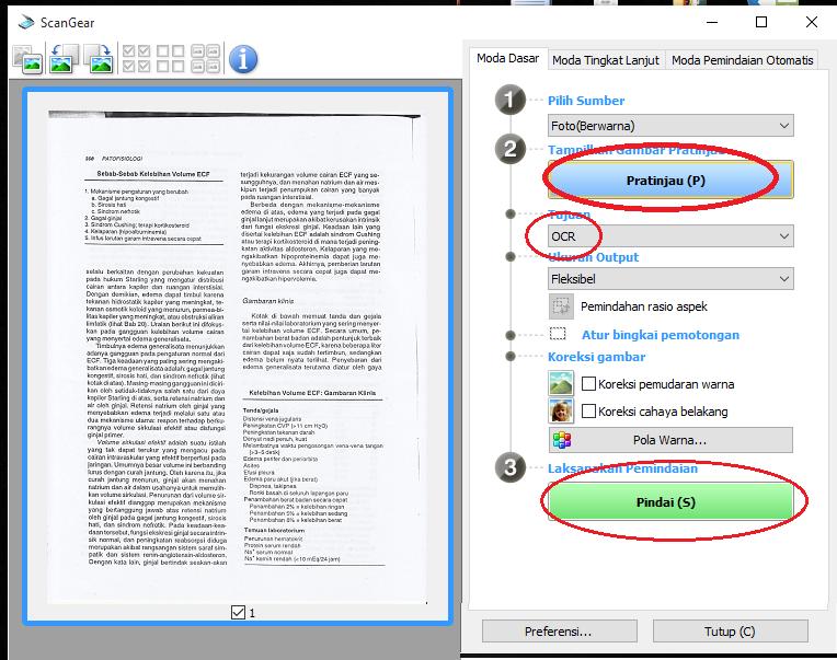 cara mengedit hasil scan/gambar menjadi file text di word