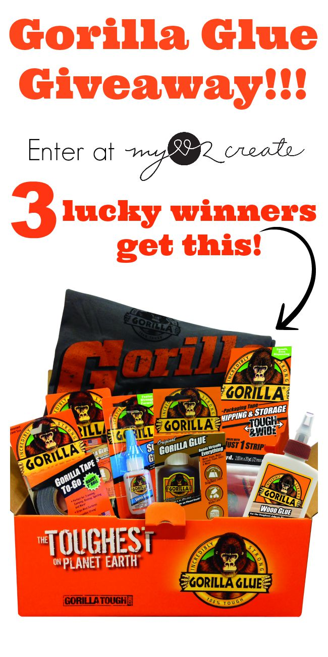 3 Lucky winners will get this awesome Gorilla Glue Tool Box at My Love 2 Create!  I am so entering I love Gorilla Glue Products!