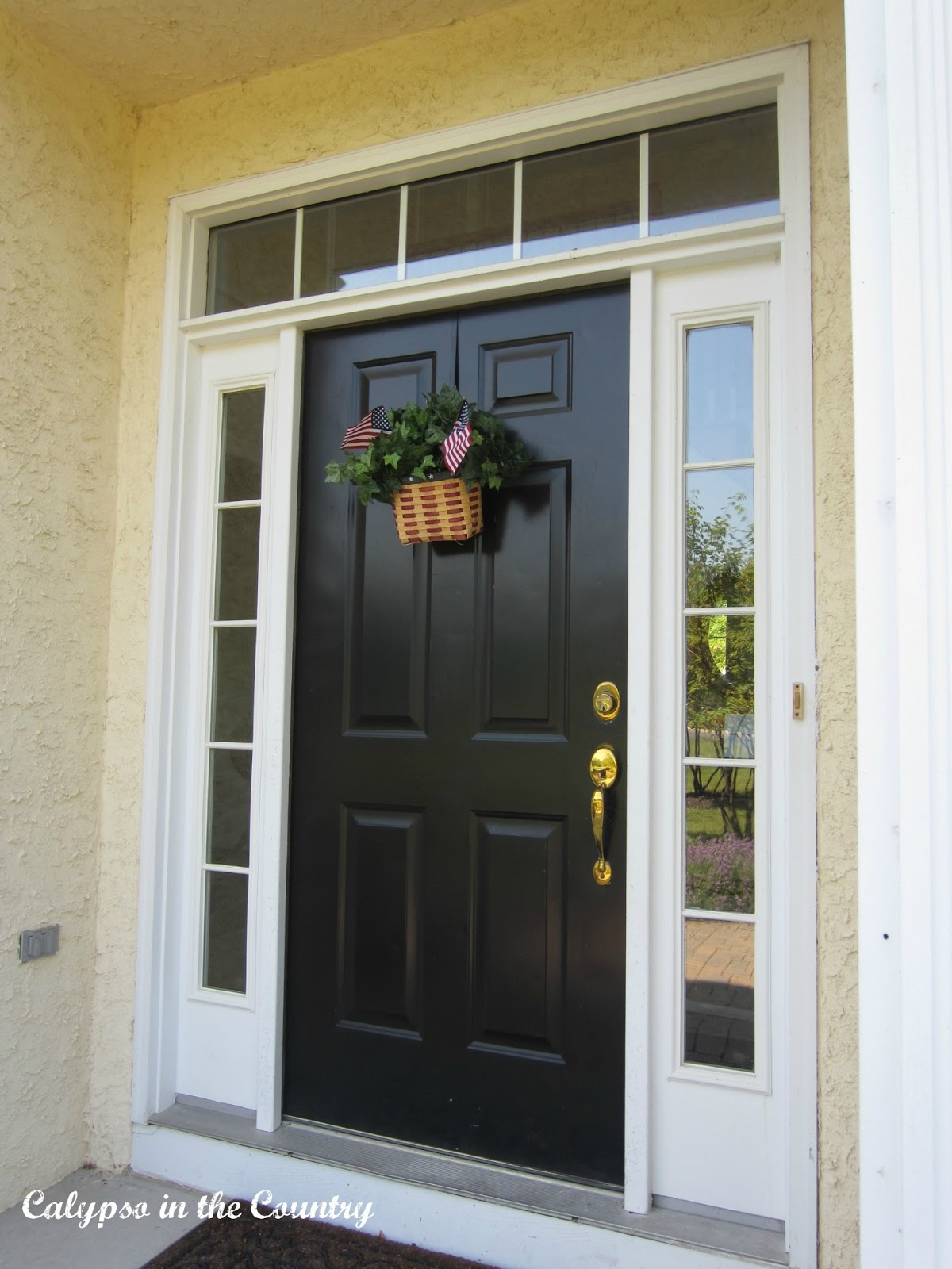 Front Door with Flags - Simple Decor for the 4th of July
