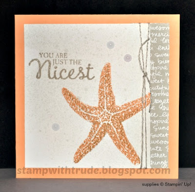 Picture Perfect, greeting card, Stampin' Up!, Stamp with Trude, star fish