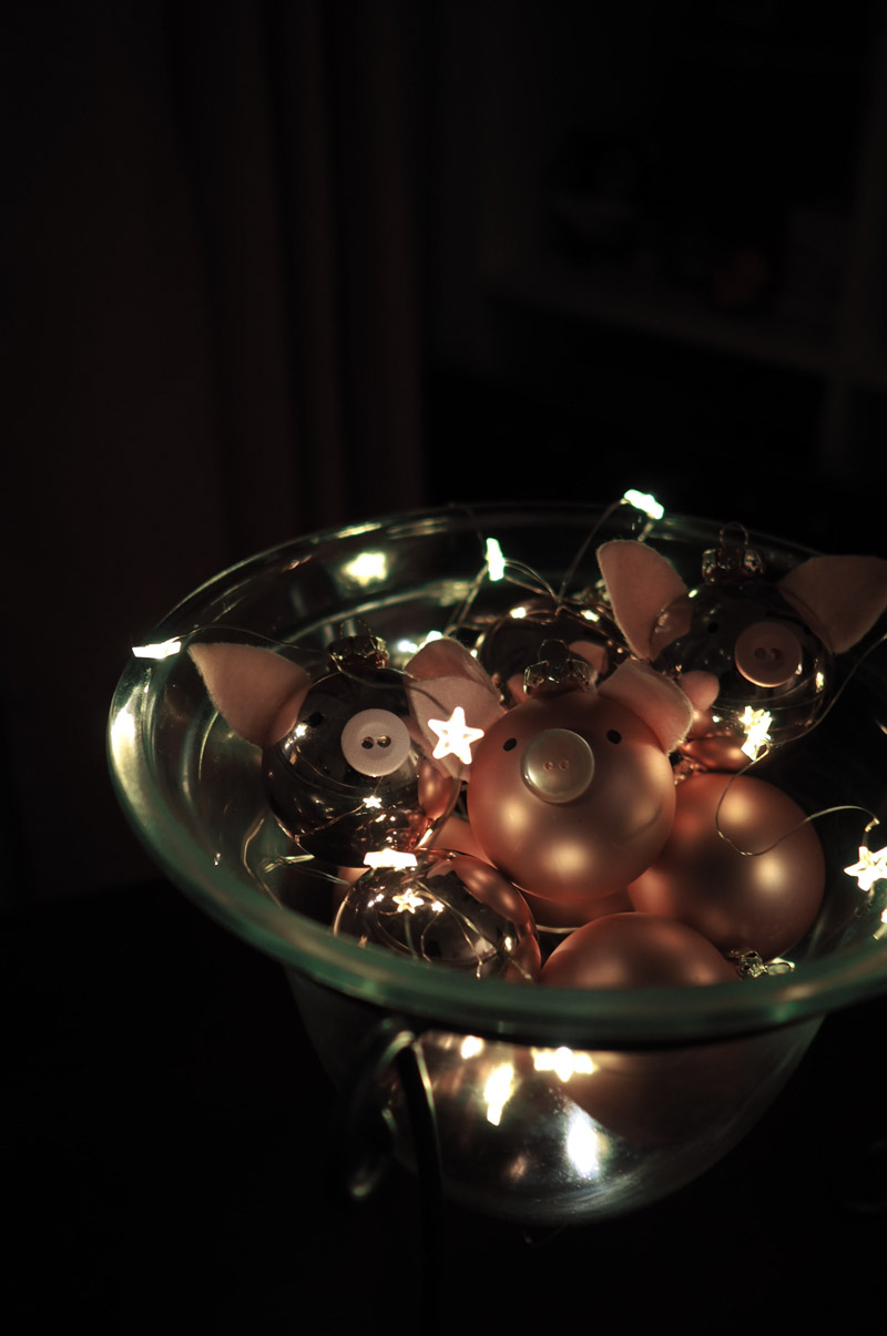 Leuchtende Dekoschale mit Mikro-LED-Lichterkette von Tchibo