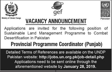 Jobs Vacancies In United Nation Development Program UNDP 15 January 2019