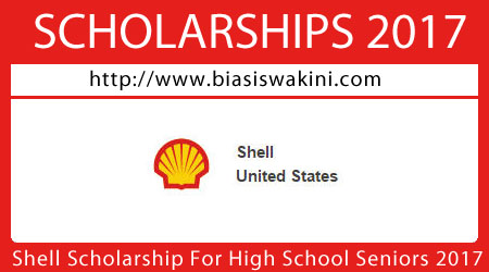 Shell Scholarship For High School Seniors 2017
