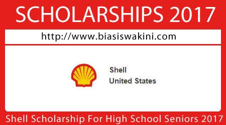 Shell Scholarship For High School Seniors 2017