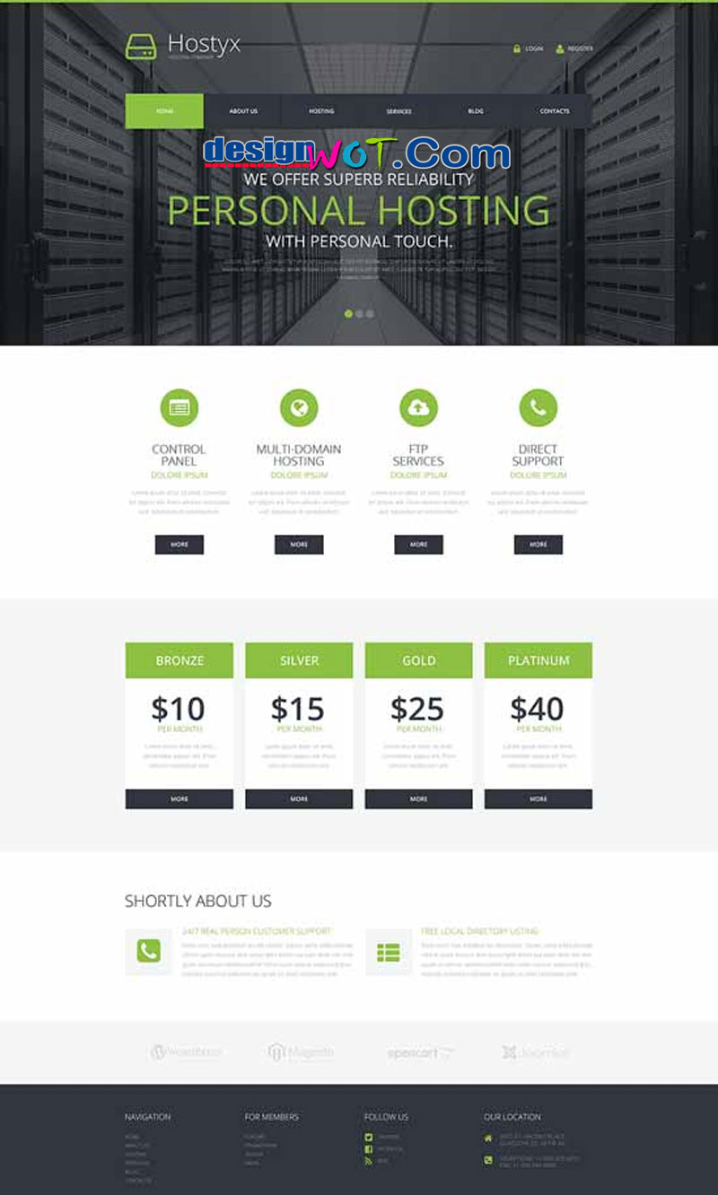 Hostyx Reliable Hosting Company WordPress Theme