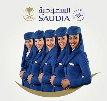 Jakarta Female Cabin Crew Saudia Airlines Air Generation