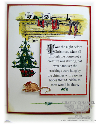 CraftyColonel Donna Nuce for Cards in Envy Challenge blog, Hampton Art G45 Stamps
