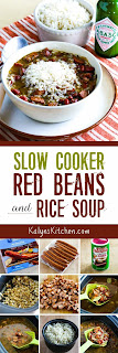 Slow Cooker Red Beans and Rice Soup found on KalynsKitchen.com