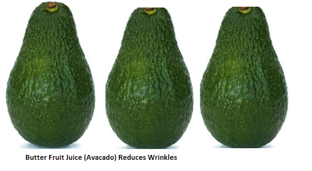 Butter Fruit Juice (Avocado) Reduces Wrinkles: