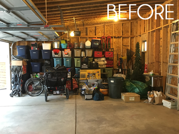and until last year our garage was not up to the task this was the cleaned up version after we cleared out tons of no longer needed items last fall - Organize Garage
