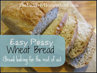 Easy Peay Wheat Bread: Bread Baking for the Rest of Us! {The Unlikely Homeschool}