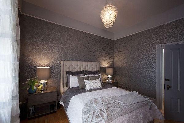 Dormitorios con paredes grises ideas para decorar - Paredes para dormitorios ...