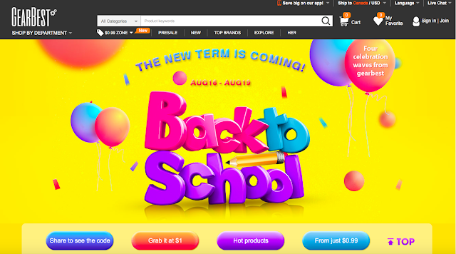 Gearbest Back to School promotion will help you grab hot products at huge discounts