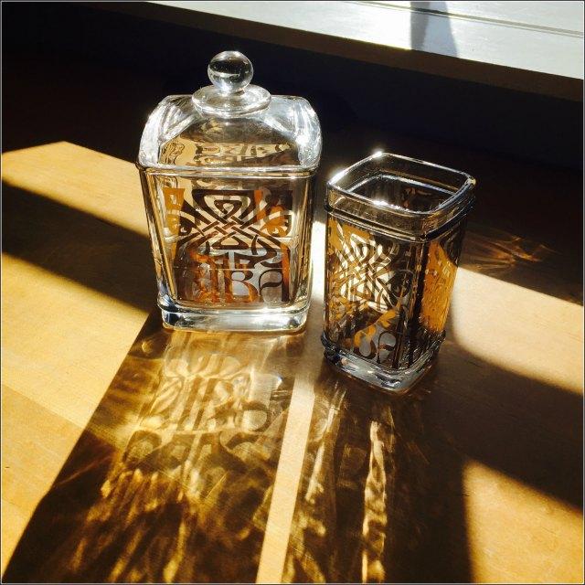 Biba bathroom glassware