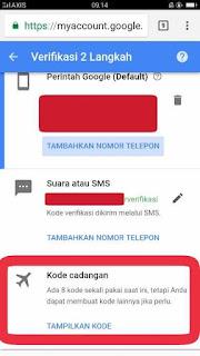 Cara membuat kode cadangan verifikasi 2 langkah Gmail