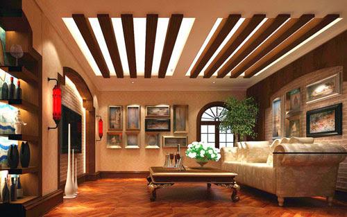 40 Desain Plafon Kayu Minimalis Modern Untuk Ruang Tamu