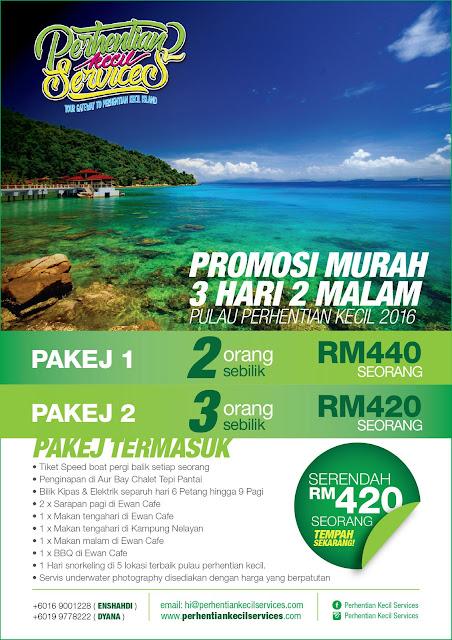 Pakej Promosi Murah Percutian Pulau Perhentian Kecil 2016 3 hari 2 malam fullboard siap makan, Pulau Perhentian, Terengganu, Malaysia.