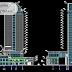 مخطط فندق بارتفاع 79 متر Modern اوتوكاد dwg
