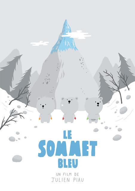 affiche, LE SOMMET BLEU, illustration
