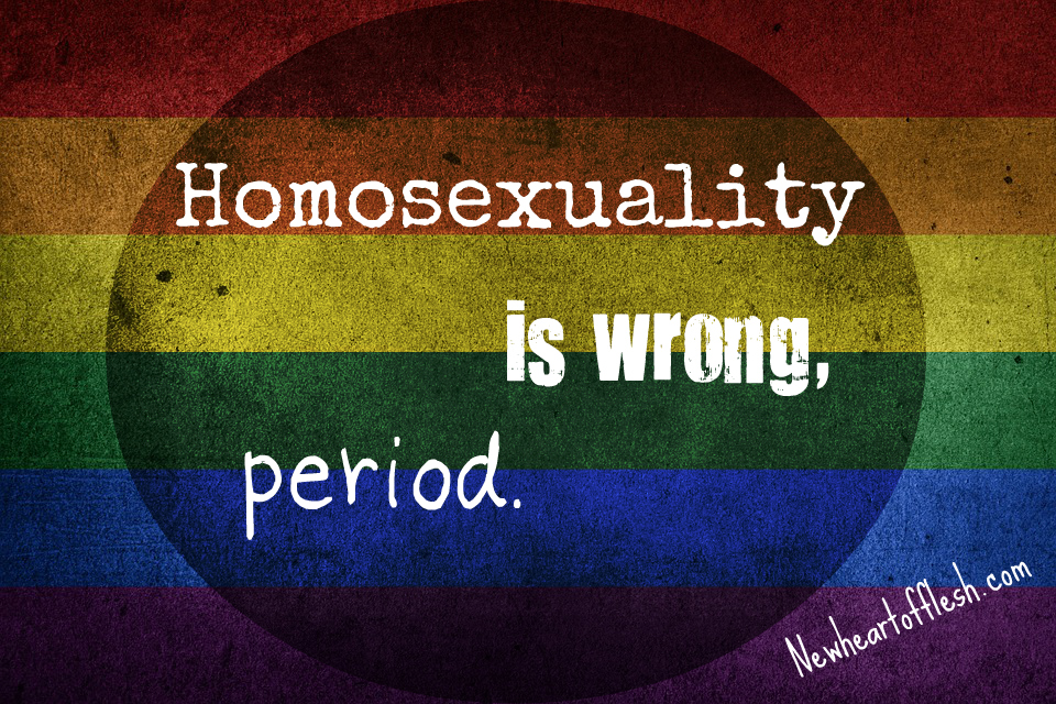 Homosexuality is wrong period