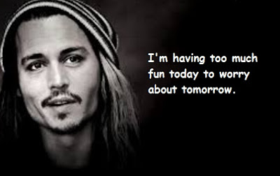 """Johnny Depp Quotes About Tomorrow"""