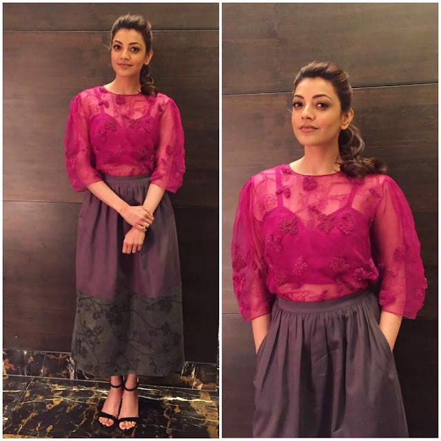 Kajal agarwal Latest pic in kavalai vendam promotions
