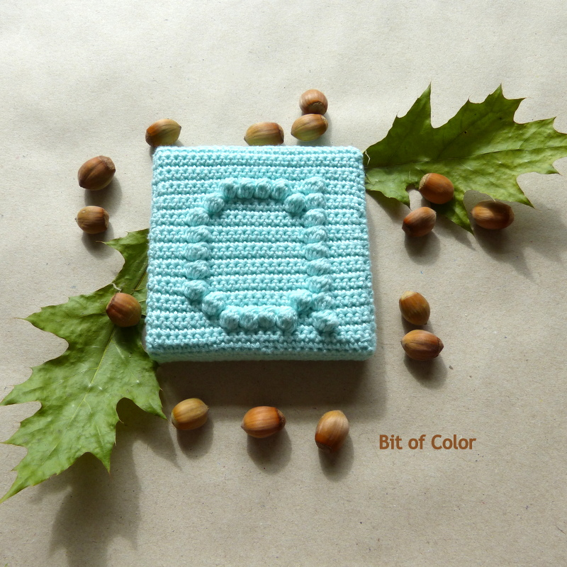 Bit Of Color Hoe Haak Je De Bobbelsteek Tutorial Bobble Stitch