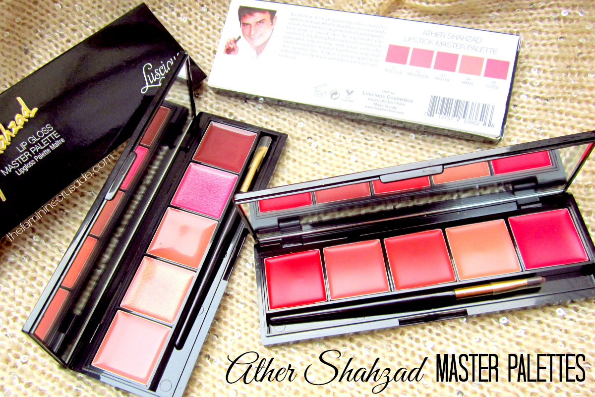 Luscious Ather Shahzad Master Lip Palettes
