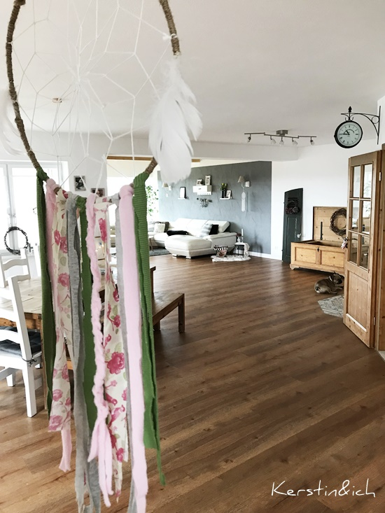Blick durch's Schlüsselloch Hunsrück Wohnzimmer Esszimmer Traumfänger Deko Wohnen