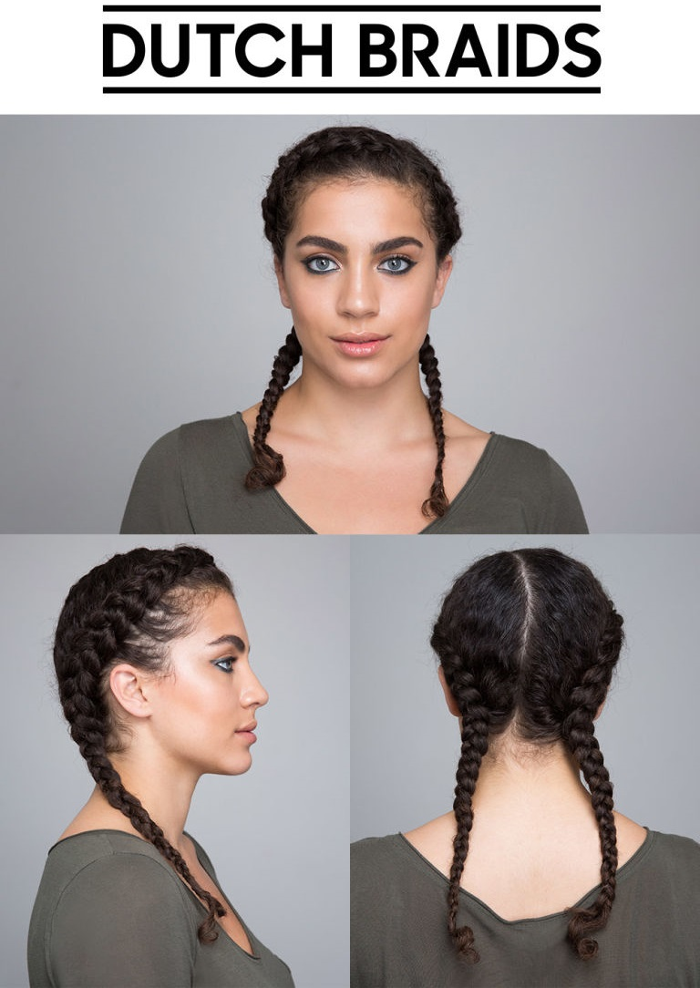 Dutch Braids idea for curly hair