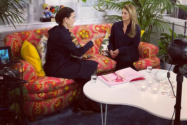 Princess Madeleine met with Secretary General of The World Childhood Foundation, Paula Guillet de Monthoux