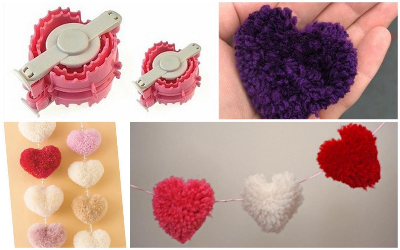 heart shaped pom pom maker. Black Bedroom Furniture Sets. Home Design Ideas