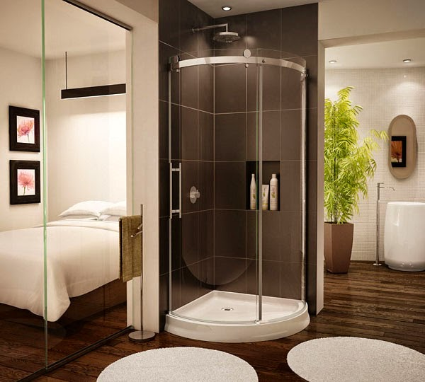 Gambar Desain Kamar Mandi Minimalis Modern Dengan Shower ...