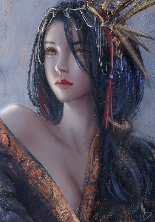 Trung Bui artstation deviantart arte ilustrações pinturas digitais fantasia mulheres beleza