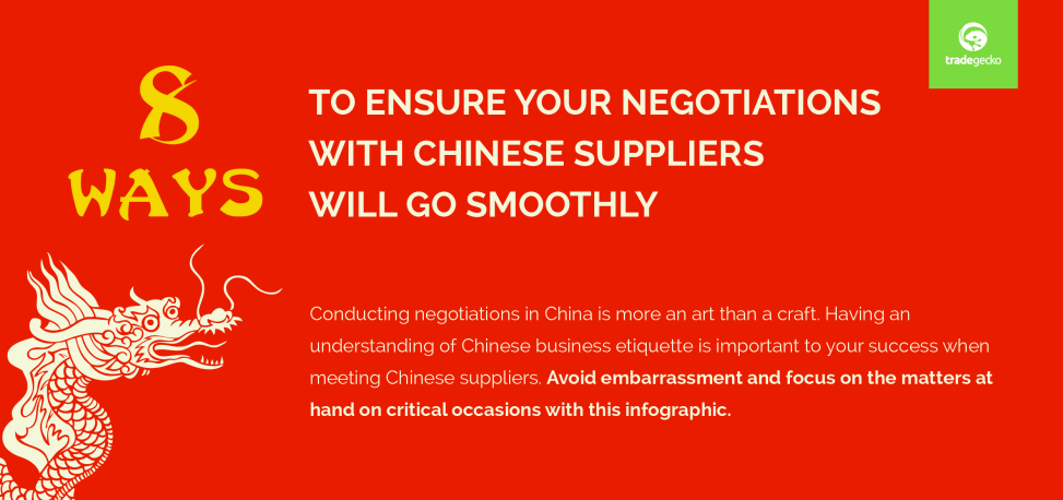 Negatiations tips with China suppliers