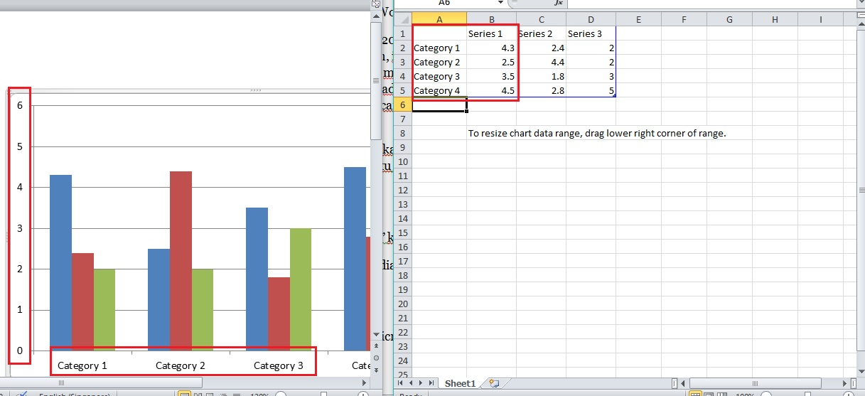Cara membuat diagram batang di microsoft word excel sinau komputer cara membuat diagram batang ccuart Image collections