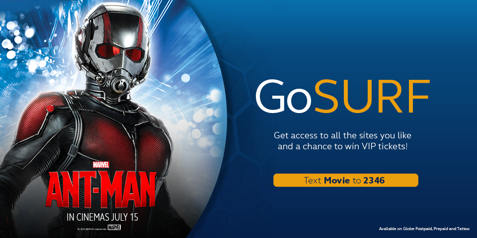 Marvel'S New Onscreen Success Ant-Man In Manila, Globe Customers Gets First Viewing Privilege