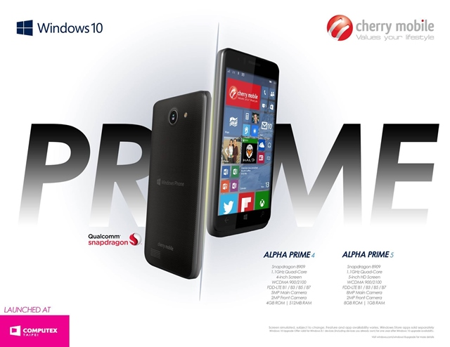 Cherry Mobile Alpha Prime 5 Windows 10 smartphone Philippines